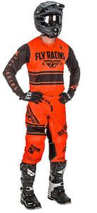 Fly Racing Mens Kinetic Mesh Era Jersey Neon Orange//Black, Medium