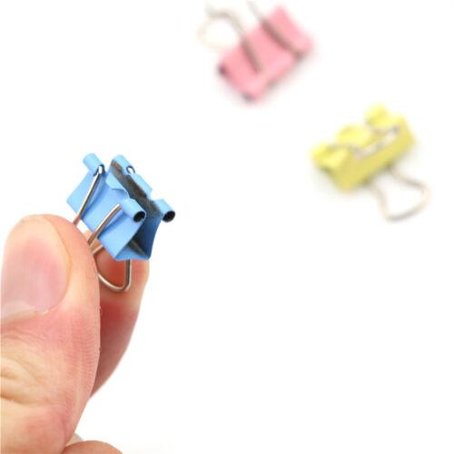 60 Stücke 15mm Bunte Metall Binder Clips Datei Büroklammer Halter Bürobedarf  4H