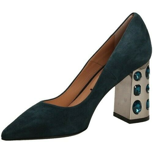 chaussures TIFFI femmes N593 P80 AMALFI LAVAGNA MADE IN ITALY IN PELLE DECOLLETE bleu