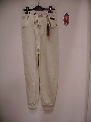 Puntuale Tom Caruso Pantalone Tuta Felpa Invernale Bianco M