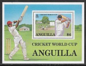 ANGUILLA 1987 ICC CRICKET WORLD CUP Souvenir Sheet MNH