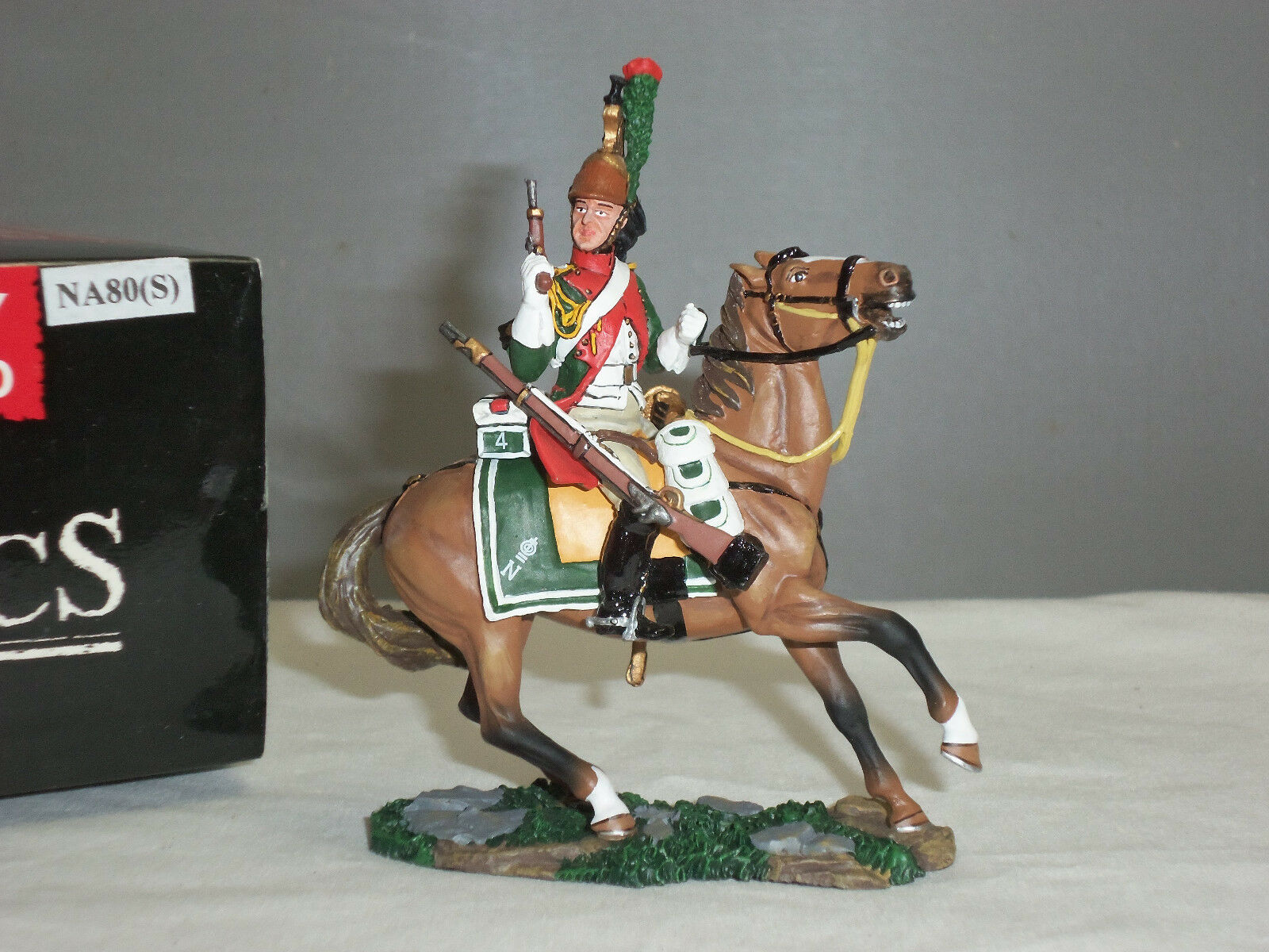 KING AND COUNTRY NA80(S) FRENCH 4TH DRAGOON MOUNTED WITH PISTOL TOY SOLDIER