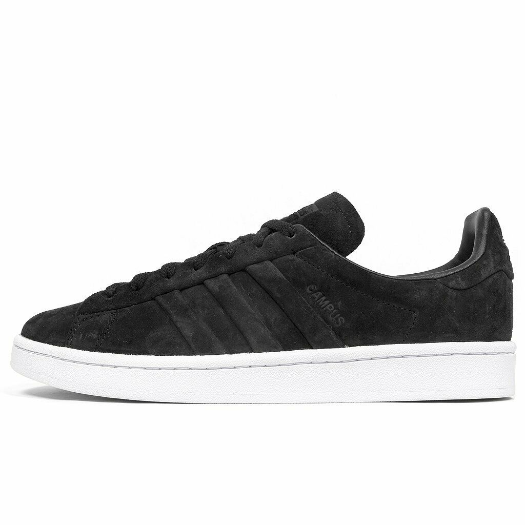 NIB ADIDAS CAMPUS STITCH AND TURN SHOES BB6745 SUEDE BLACK WHITE ALL SIZES