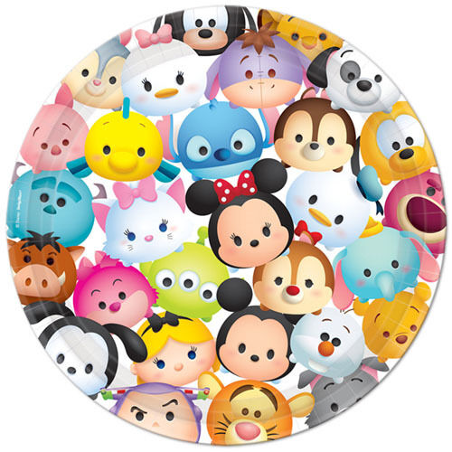 ~ Birthday Party Supplies Dinner Disney Lunch 8 TSUM TSUM LARGE PAPER PLATES