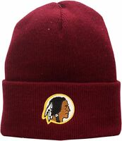 Washington Redskins Cuffed Knit Hat Vintage Patch Logo 12601