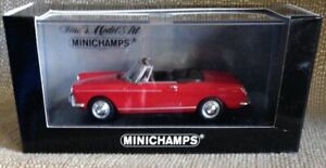 Minichamps-Peugeot-404-Convertible-Cabriolet-1-43-Scale-Red-w-Black-Interior