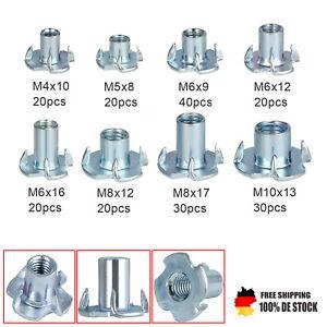 100 Einschlagmuttern M6 Stahl verzinkt Einschlaggewinde mit Spitzen