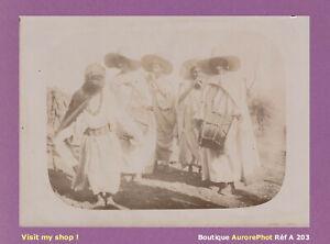 PHOTO-1890-ALGERIE-GROUPE-DE-MUSICIENS-TRADITIONNELS-AFRIQUE-DU-NORD-A203
