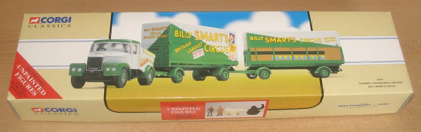 CORGI 97897 SCAMMELL HIGHWAYMAN & 2 TRAILERS 'BILLY SMART'S' LIMITED EDITION MIB