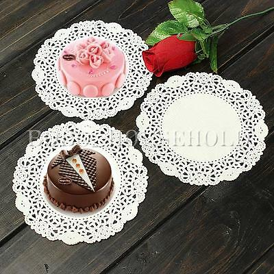 "10/50/100 5.5"" Round Lace Paper Doilies Craft Cup Cake Wedding Party Decoration"