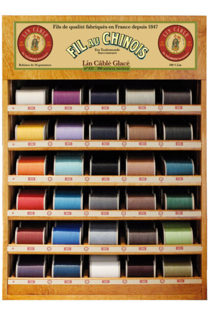 """Size 332 - All 31 Colors New Sajou Fil au Chinois /""""Lin Cable/"""" Linen Thread"""