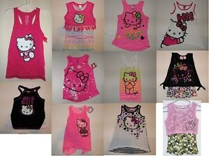 Hello-Kitty-Girls-Sleeveless-Tank-Top-Patterns-amp-Colors-to-Choose-Various-Size