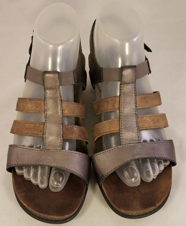 Tamaño nos 8.5 M SAS Tripad Ortopédico Confort Mujer Sandalias Dorado De Cuero Dorado Sandalias gris 0bd6a1