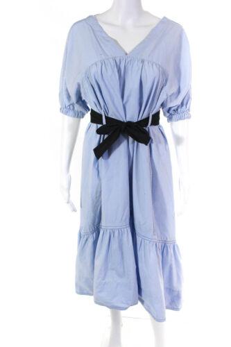 3.1 Phillip Lim Womens Poplin Midi Flare Dress Si… - image 1
