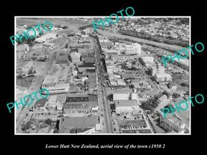 OLD-LARGE-HISTORIC-PHOTO-LOWER-HUTT-NEW-ZEALAND-AERIAL-VIEW-OF-THE-TOWN-c1950-3