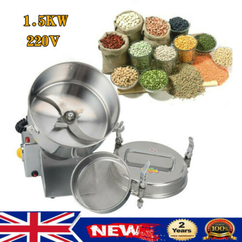 1.5KW Electric Wheat Cereal Grinder High Speed Mill Powder Grinding Machine 220V