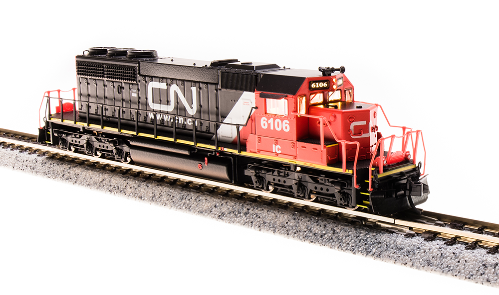 Broadway Limited 3707 N Scale EMD SD40-2 Canadian National   6106, DCC/DC/Sound
