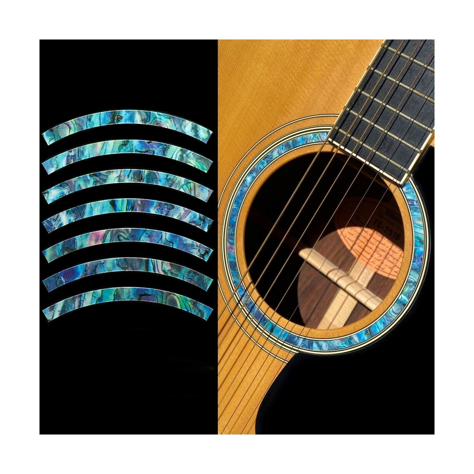 Artibetter 3pcs Guitar Rosette Soundhole Decals Inlay Stickers Decals for Acoustic Guitar Tenor Ukuleles Musical Instrument Accessories