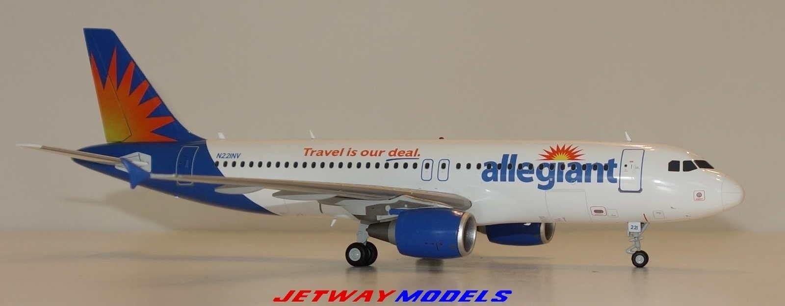 NEW 1:200 GEMINI JETS ALLEGIANT AIR AIRBUS INDUSTRIES A320-200 N221NV G2AAY458