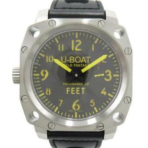 U-BOAT Thousands of Feet Watch Men's 0443742 0010 ManualWind Movement SS