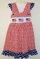 Nip The Smocked Shop Patriotic / July 4th Smocked Dress Size 18 Month