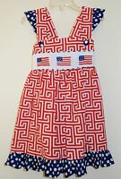 The Smocked Shop Patriotic / July 4th Smocked Dress Girl's Size 3 Year