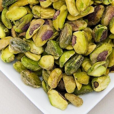 PISTACHIOS SHELLED KERNELS RAW UNSALTED, 1 LB