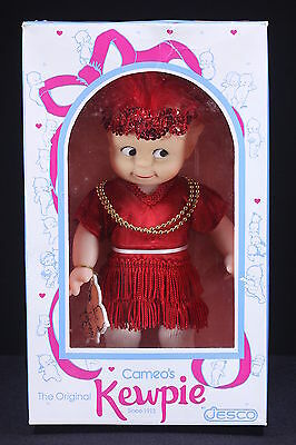 "Cameo's Kewpie 11 1/2"" Toy Doll By Jesco New In The Box Charleston Flapper #1920"