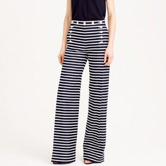 NWT  J. CREW Striped Sailor Pants, Size 16