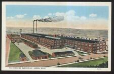 Postcard AKRON Ohio/OH  Mohawk Rubber Tire Factory/Plant Bird's Eye Aerial view