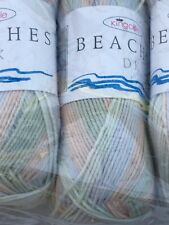 King Cole Beaches Double Knitting Yarn Shade 4280 Pebble Beach 400 Grams 4 Balls