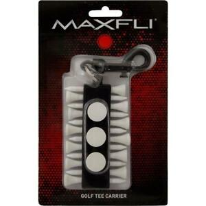 Golf-Tee-Holder-Carrier-Maxfli-Ball-Markers-Key-Chain-Clip-Bag-Attachment