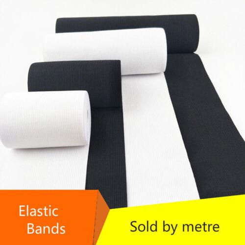 Élargir Épais Bande Élastique Couture Stretch Plat Corde Caoutchouc Noir Blanc