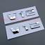 1Pair NEW V12 Emblem Badge Decal ABS Rear for BMW V12 M760 M750 X6 X5 X4 X3 X1