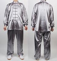 Wushu Taichi Uniform Kungfu Uniforms Silver Chinese Kung Fu China Tai Chi Chuan
