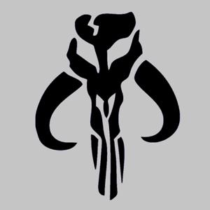 Boba Fett Mandalorian Logo Decal Sticker Mythosaur Skull Bounty Hunter Star Wars Ebay