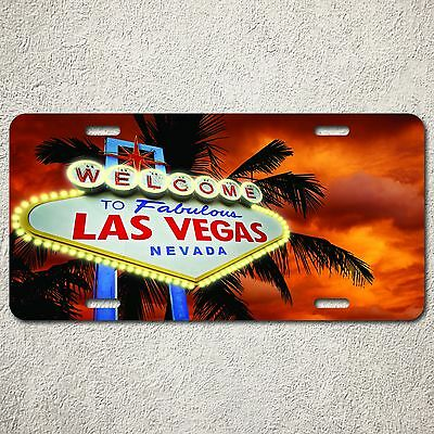Uncle Sam Nevada Decorative License Plate Tin Sign Welcome To Las Vegas