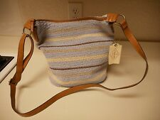 St. John's Bay Tia Crochet Hobo Purse Multi  Blue $65 New With Tags