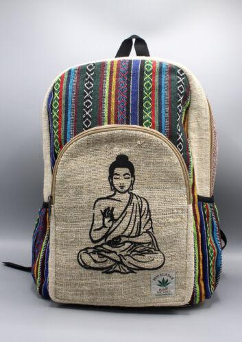 Multi-Color Cotton Mixed Buddha Printed Hemp Backpack