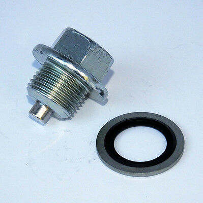 M12 x 1.75 Thread Black Magnetic Sump Plug /& Washer