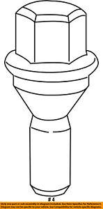 CHRYSLER-OEM-Wheel-Lug-Nut-6511052AA