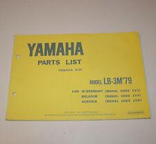 Ersatzteilkatalog / Parts List Yamaha BOP LB-3M - Edition 1979!