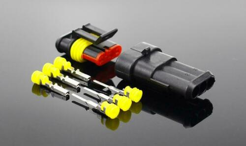 Details about  /2-5sets Kit 2 Pin 1//2//3//4//5//6 Pins Way Amp Super Seal Waterproof Electrical Wire