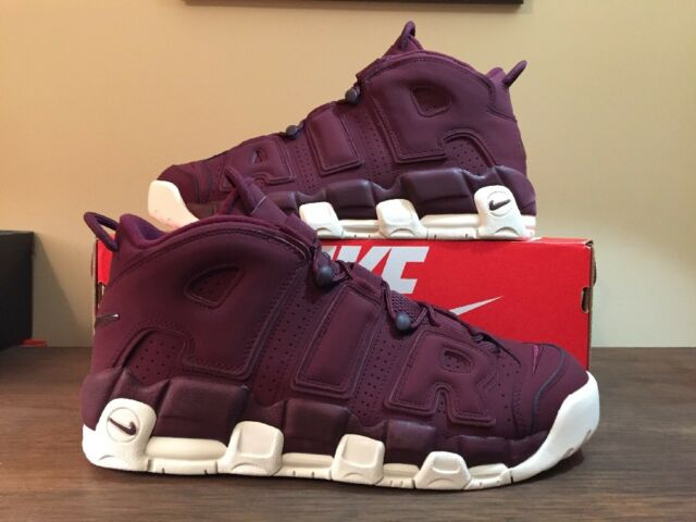 Nike Air More Uptempo 96 Sz 13 QS 2017 Night Maroon 921949-600 Bordeaux