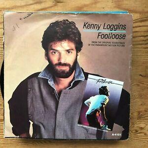 KENNY-LOGGINS-FOOTLOOSE-CLASSIC-EIGHTIES-POP-ROCK-45rpm-7-034-VINYL-RECORD