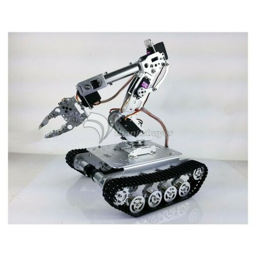 7-DOF Robot Arm Gripper Shock Absorber RC Tank Car WiFi 7pcs MG996R Servos Z