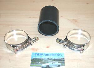 Silikonschlauch-57-mm-Schwarz-inkl-HD-Schellen-NEU-Verbinder-LLK-Turbo-2-25-034