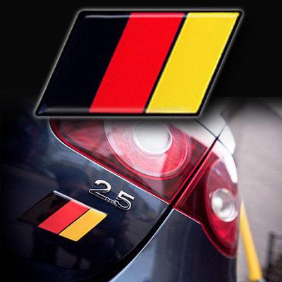 1 NEW German Flag EUROBADGE euro badge fits VW GTI Jetta Audi Volkswagen BBURW