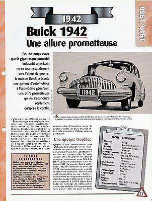 Voiture Buick Roadmaster SÉrie 70 - Fiche Technique Auto 1942 Collection Car Costo Moderato