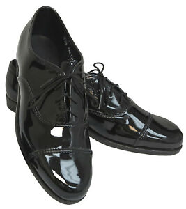 New Men's Black Tuxedo Shoes Cap Toe
